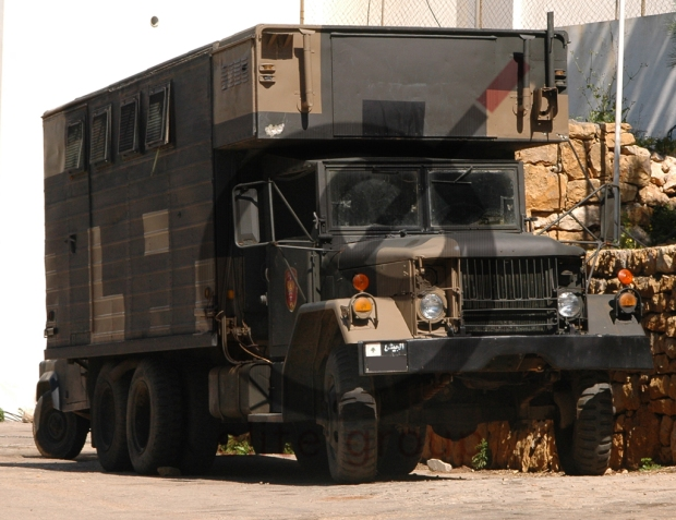 A Lebanese Army M292 Expansible Van Truckof the Maghaweer Regiment. This truck is a veteran vehicle of Nahr El Bared Battle.