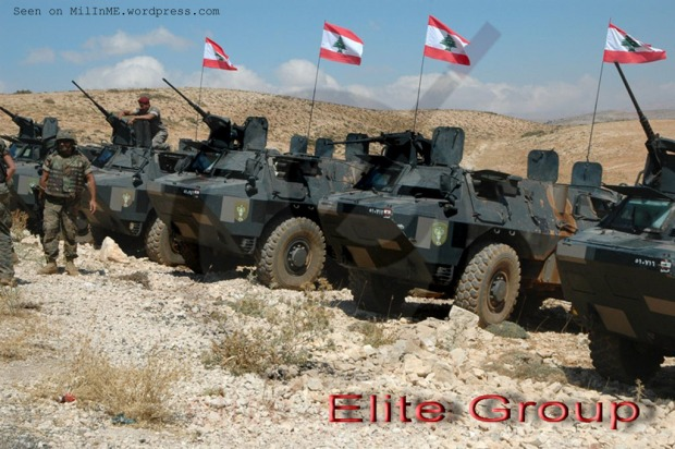 A Lebanese Army VAB APCs of the Maghaweer Regiment during the live-fire exercise in Aqoura, September 9, 2011. (EGL/Samer Kassis)