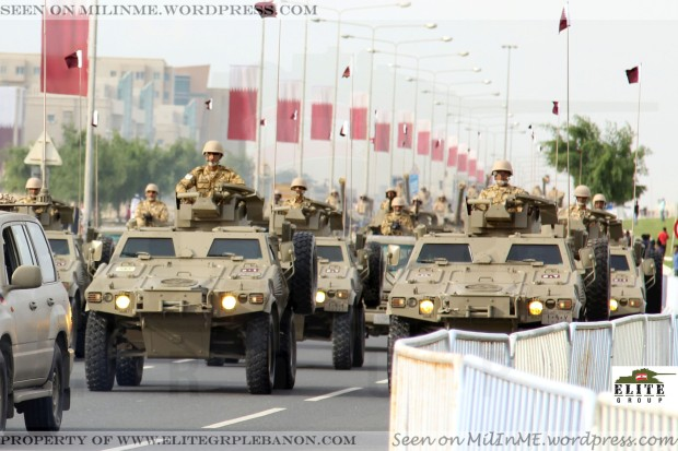 Qatar Armed Forces VBL all-terrain vehicle.