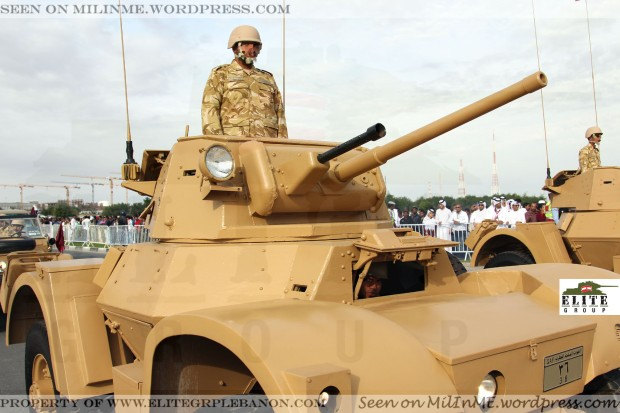 Qatar Armed Forces Daimler armoured cars.