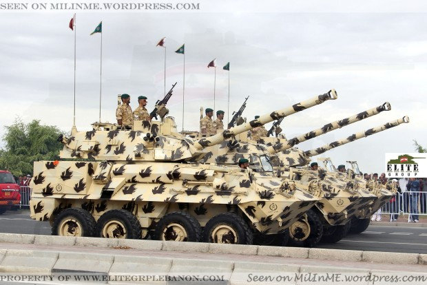 Qatar Armed Forces MOWAG Piranha II 8x8 w/90mm CCTS turret of the Emiri Guard Brigade.