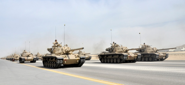 Royal Bahraini Army M60A3 MBTs.