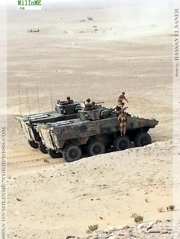 A French Army VBCI IFV during the exercise.