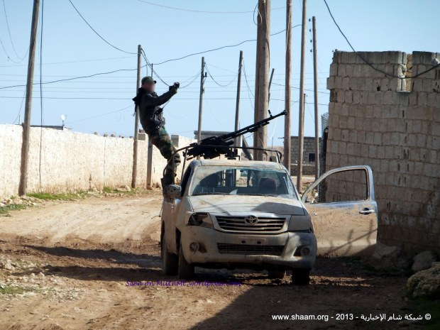 A free Syrian Army Toyota HiLux technical in Aleppo, January 21, 2013.