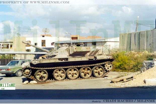 An ex SLA militia Tiran 55 parked as trophy in Qana, Southern Lebanon, 2001.