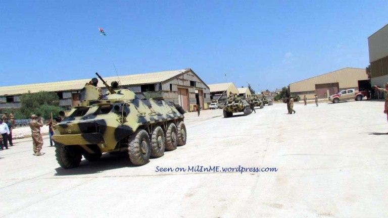 Libyan Army BTR-60PBs of the Katiba 204, late April 2013.