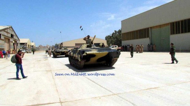 Libyan Army BMP-1s of the Katiba 204, late April 2013.