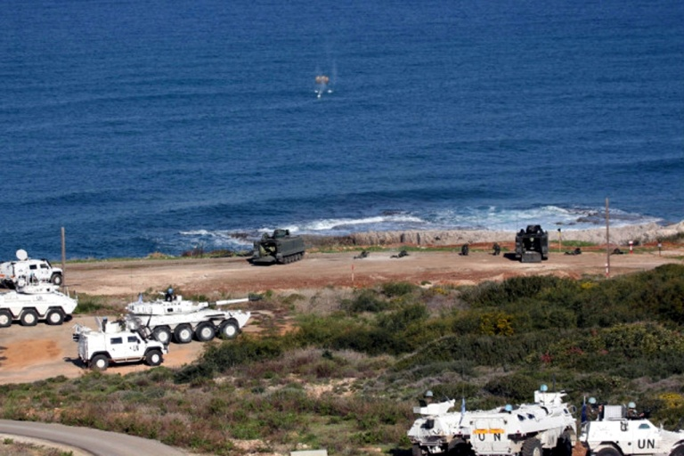 French, Italian, Spanish and Lebanese vehicles during the exercise.