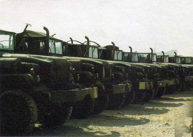 M54 cargo trucks delivered to the Lebanese Army in the nineties.